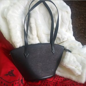 Louis Vuitton Black Epi Leather Purse LV Noir Tote